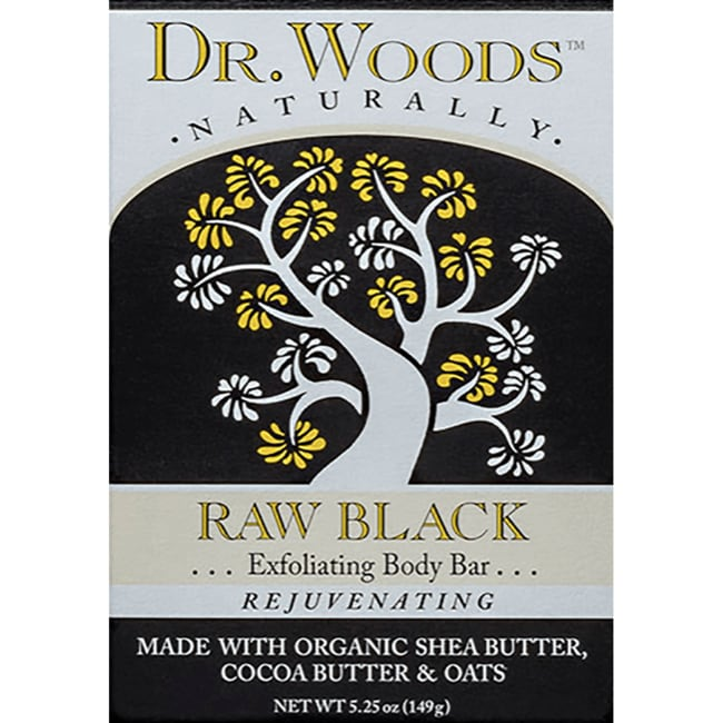Dr. WoodsRaw Black Exfoliating Body Bar