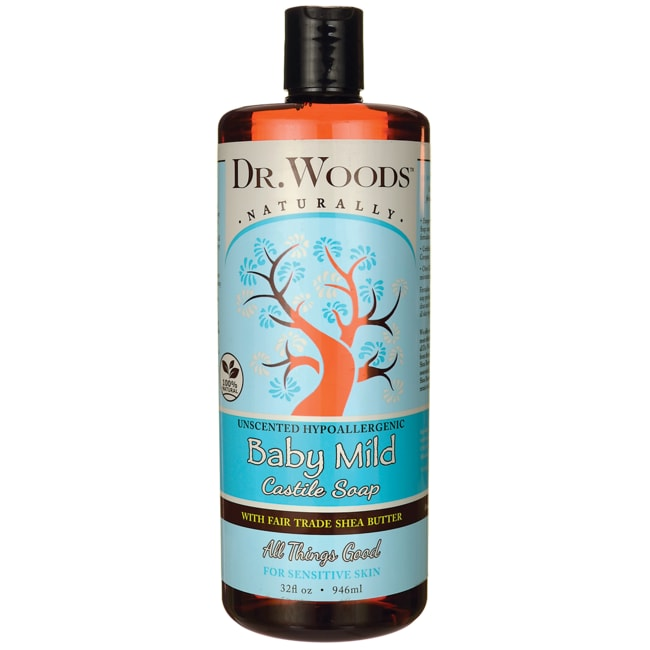Dr. WoodsBaby Mild Castile Soap with Fair Trade Shea Butter - Unscented