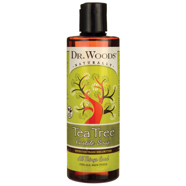 Dr. WoodsTea Tree Castile Soap with Fair Trade Shea Butter