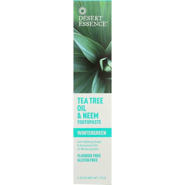 Desert EssenceTea Tree Oil & Neem Toothpaste - Wintergreen