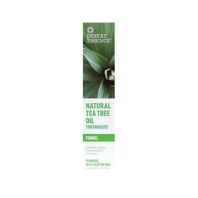 Desert Essence Natural Tea Tree Oil Toothpaste - Fennel