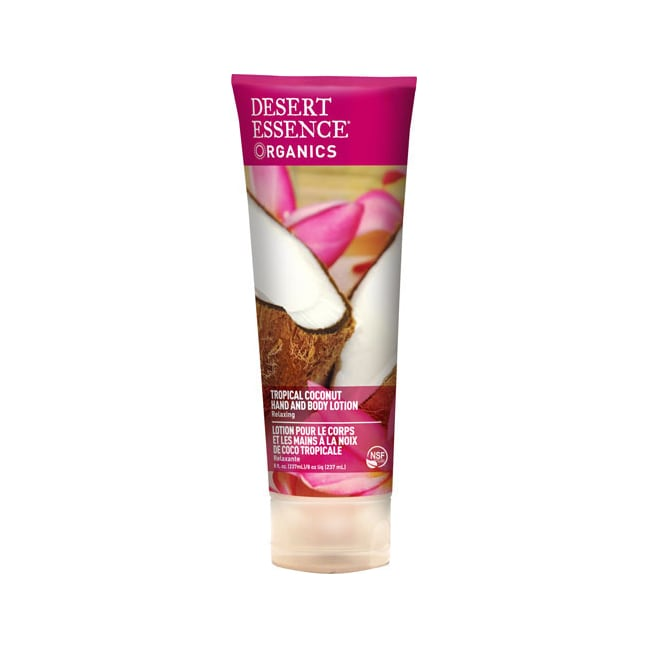 Desert Essence Tropical Coconut Hand and Body Lotion