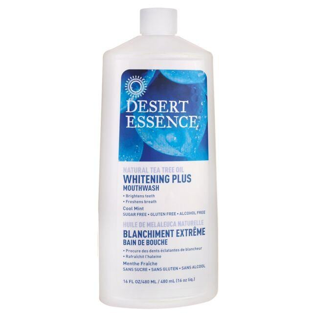 Desert EssenceTea Tree Oil Whitening Plus Mouthwash - Cool Mint