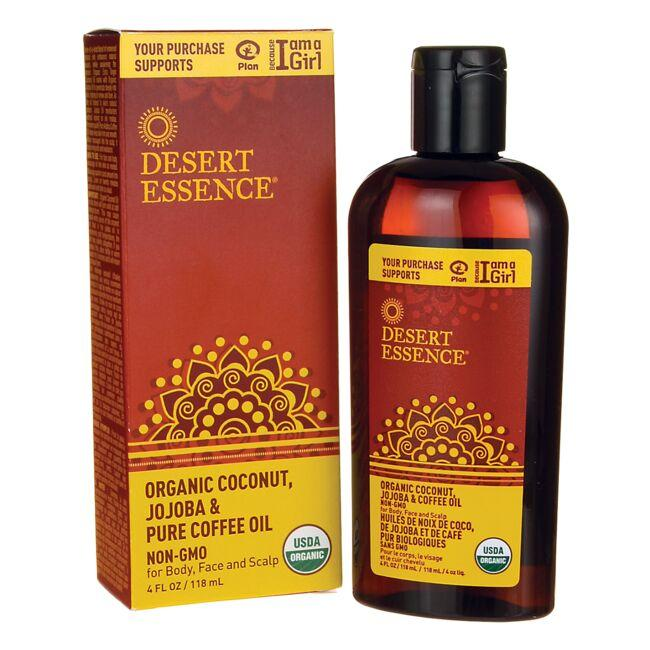Desert Essence Organic Coconut, Jojoba & Pure Coffee Oil
