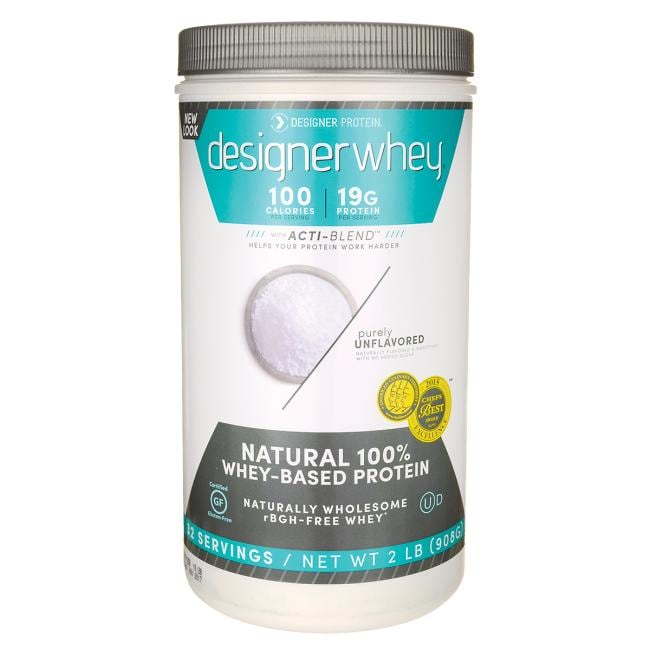 Designer Whey Natural 100% Whey-Based Protein - Purely Unflavored
