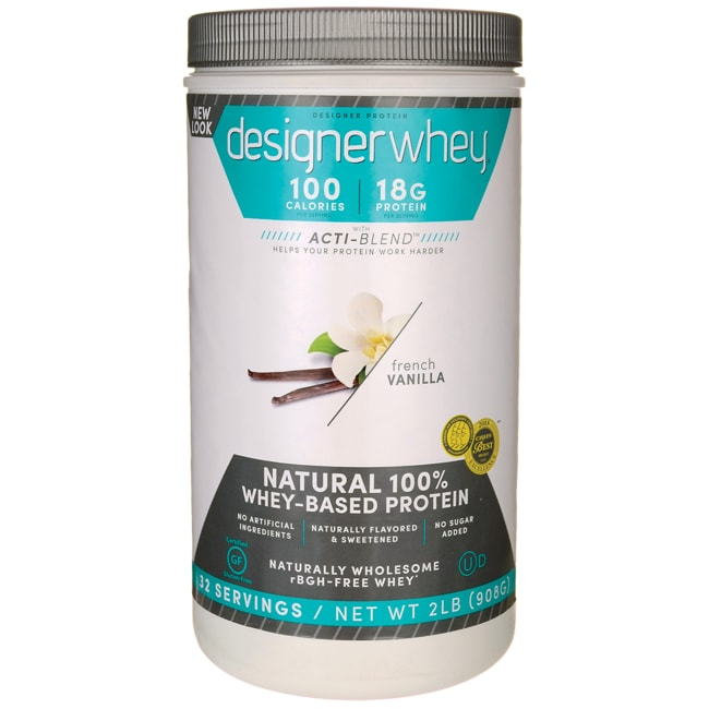Designer Whey Natural 100% Whey-Based Protein - French ...