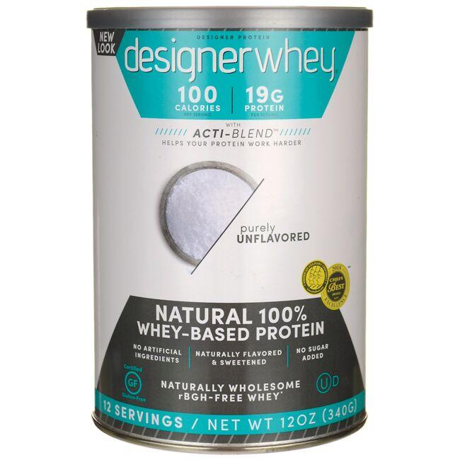 Designer Whey 100% Premium Whey Protein Powder - Plain & Simple