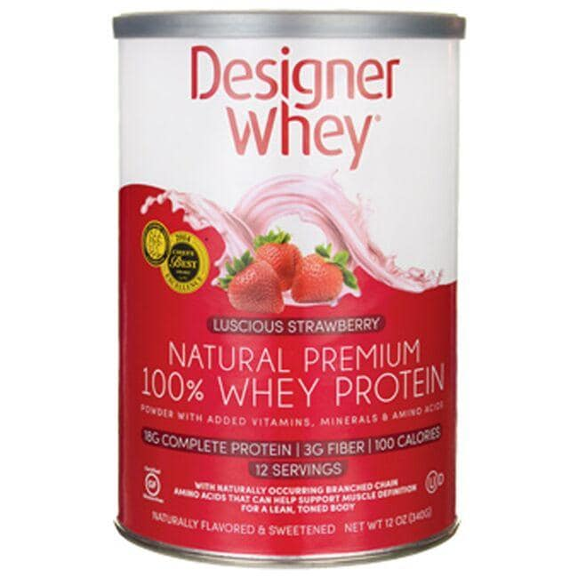 Designer Whey Natural Premium 100% Whey Protein - Luscious Strawberry