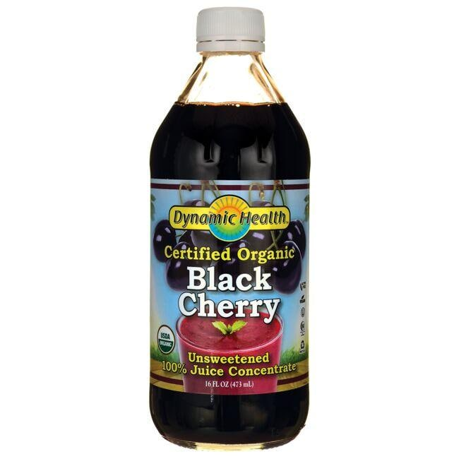 Dynamic Health Certified Organic Black Cherry Unsweetened 100% Juice Con