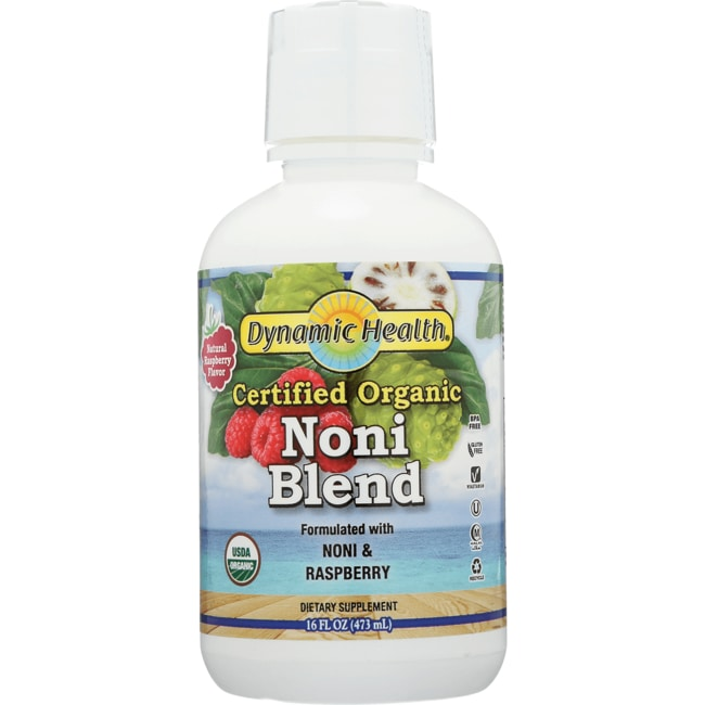 Dynamic Health Organic Certified Noni Juice From Tahiti - Raspberry
