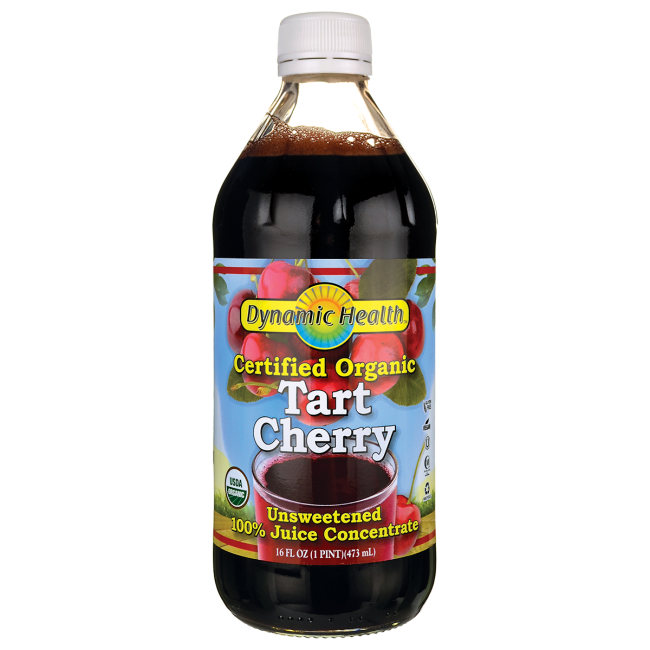Dynamic HealthCertifiedOrganic Tart Cherry Unsweetened100%JuiceConcentrate