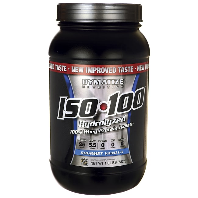 Dymatize NutritionISO 100 Hydrolyzed Whey Protein Isolate - Gourmet  Vanilla