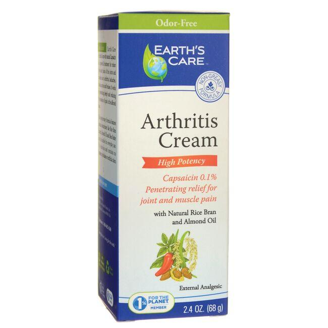 Earth's Care High Potency Arthritis Cream - Odor-Free