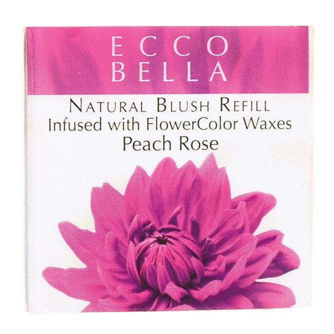 Ecco Bella Natural Blush Refill Infused with FlowerColor - Peach Rose