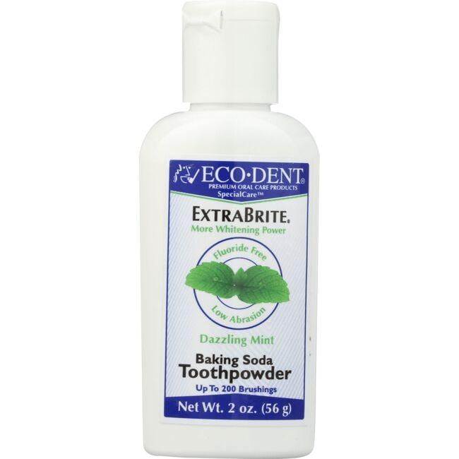 Eco-DentExtraBrite Baking Soda Toothpowder - Dazzling Mint