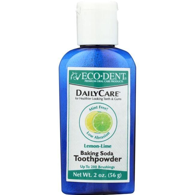 Eco-Dent Daily Care Baking Soda Toothpowder - Lemon-Lime