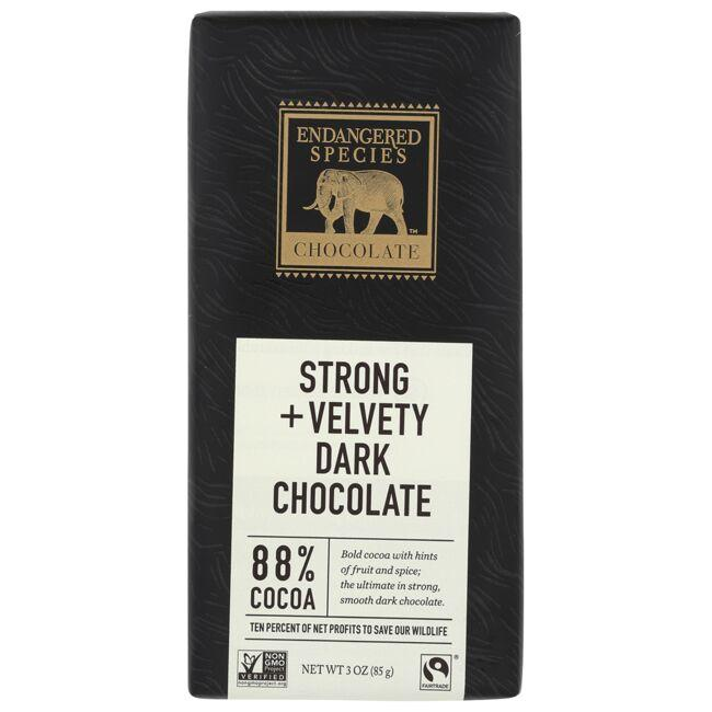 Endangered Species Chocolate Strong + Velvety Dark Chocolate Bar