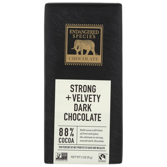 Endangered Species ChocolateDark Chocolate Bar with 88% Cocoa