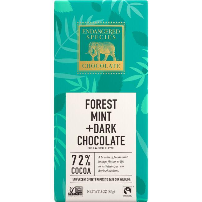 Endangered Species Chocolate Dark Chocolate with Forest Mint 72% Cocoa