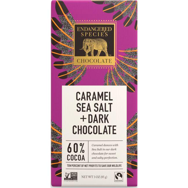 Endangered Species ChocolateDark Chocolate with Caramel & Sea Salt 60% Cocoa