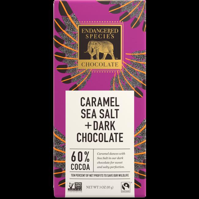 Endangered Species ChocolateDark Chocolate with Caramel & Sea Salt 60% Cocoa