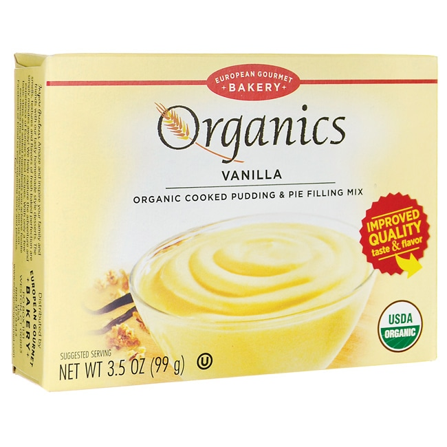 European Gourmet BakeryOrganics Cooked Pudding & Pie Filling Mix - Vanilla