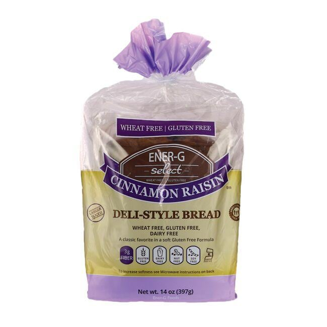 Ener-G Foods Select Cinnamon Raisin Deli-Style Bread