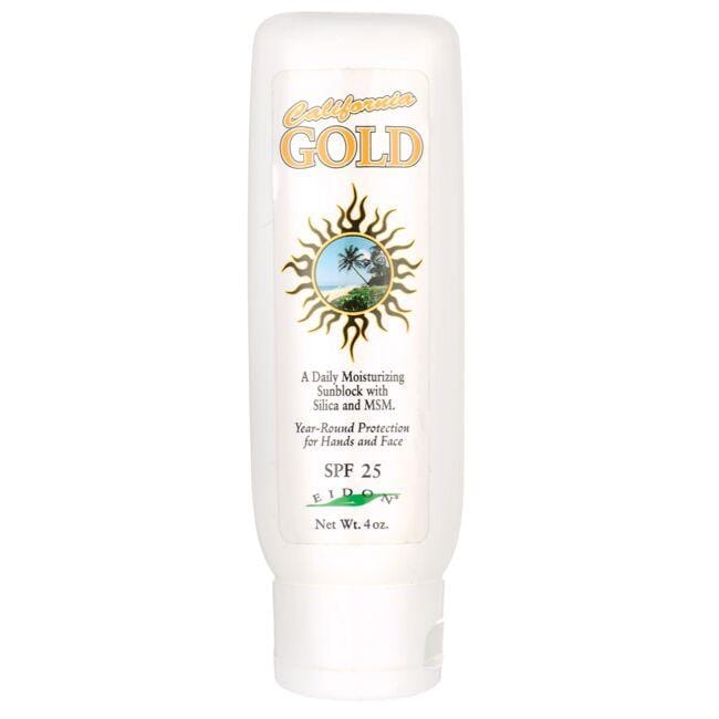 Eidon Ionic MineralsCalifornia Gold Sunblock with Silica and MSM - SPF 25