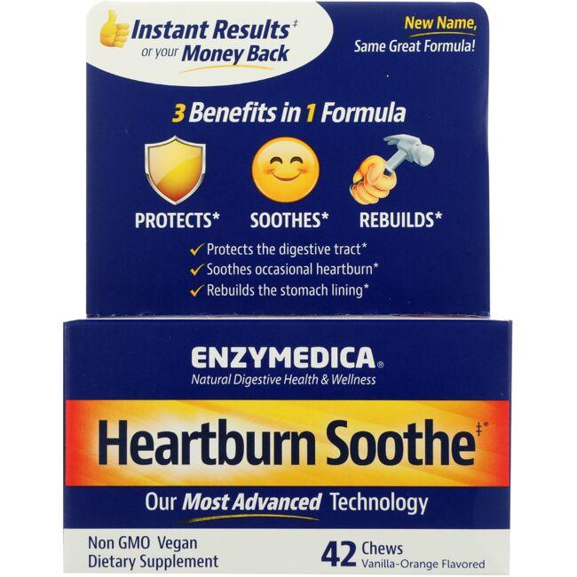 Enzymedica Heart Burn Relief - Vanilla-Orange