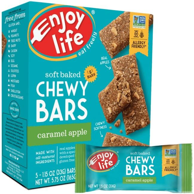 Enjoy Life Baked Chewy Bars - Caramel Apple