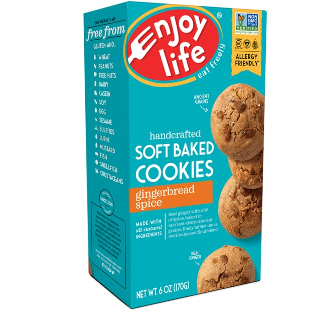 Enjoy LifeSoft Baked Cookies - Gingerbread Spice