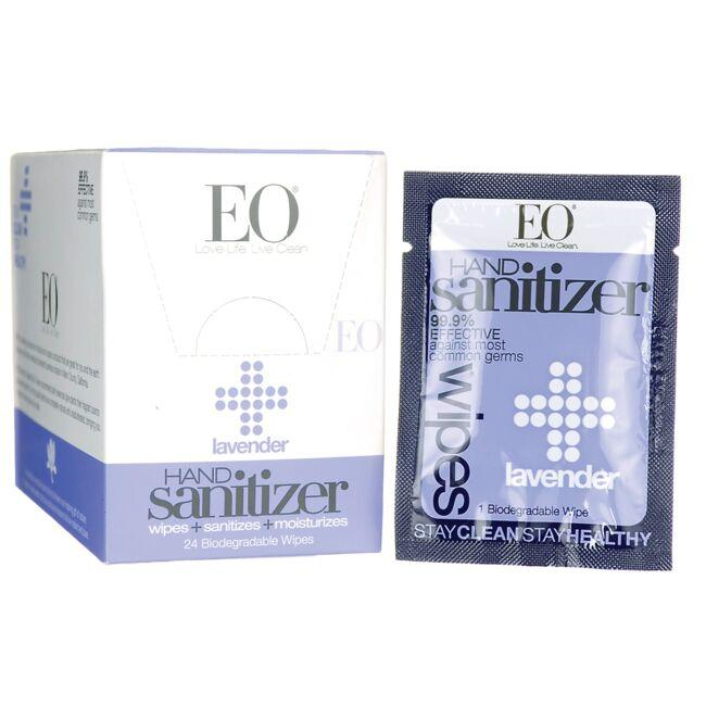 EO Products Hand Sanitizer Wipes - Lavender