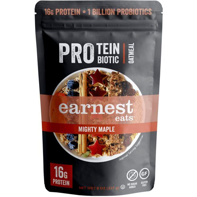 Earnest Eats Protein Probiotic Oatmeal - Mighty Maple