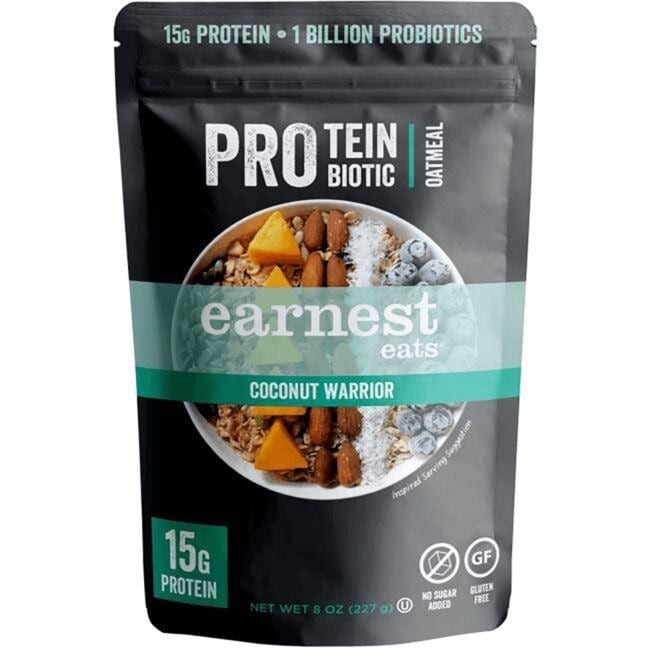 Earnest EatsProtein Probiotic Oatmeal - Coconut Warrior