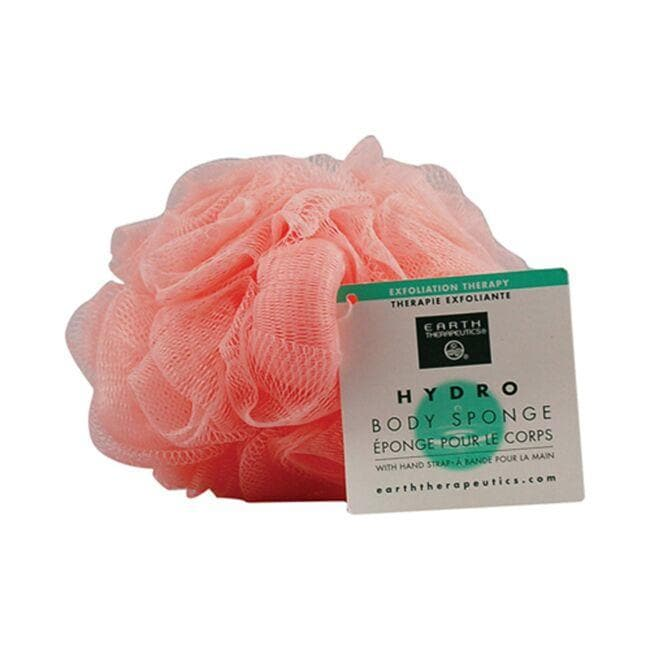 Earth Therapeutics Hydro Body Sponge with Hand Strap - Peach