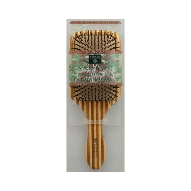 Earth Therapeutics Bamboo Lacquer Pin Paddle Brush