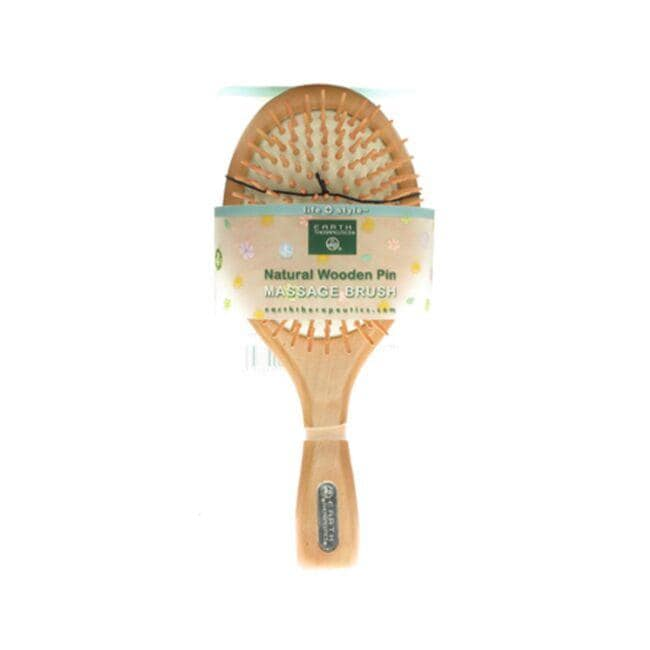 Earth Therapeutics Natural Wooden Pin Massage Brush - Large