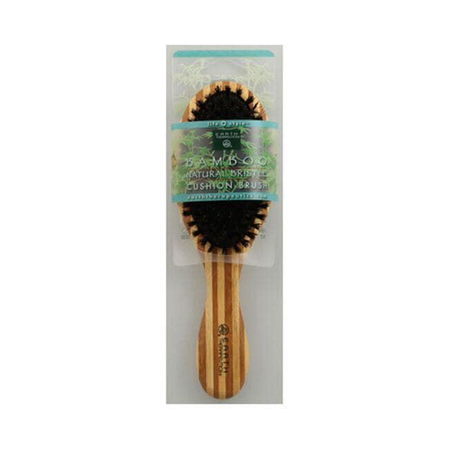 Earth Therapeutics Bamboo Natural Bristle Cushion Brush