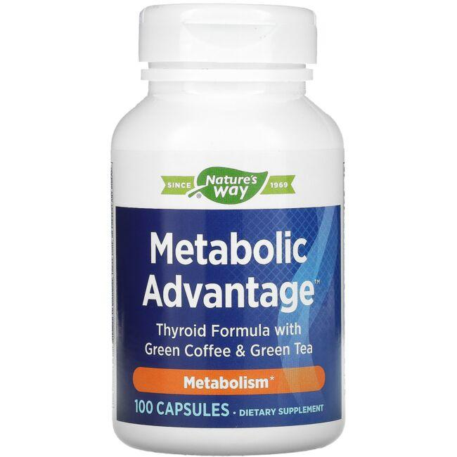 Enzymatic Therapy Metabolic Advantage Thyroid Formula with Green Coffee & Green Tea
