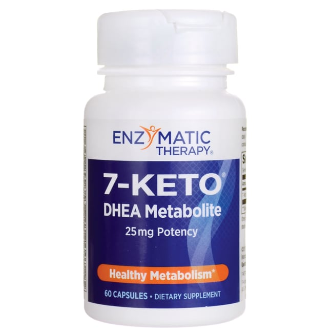 Enzymatic Therapy 7-KETO DHEA 25 mg 60 Caps - Swanson Health Products