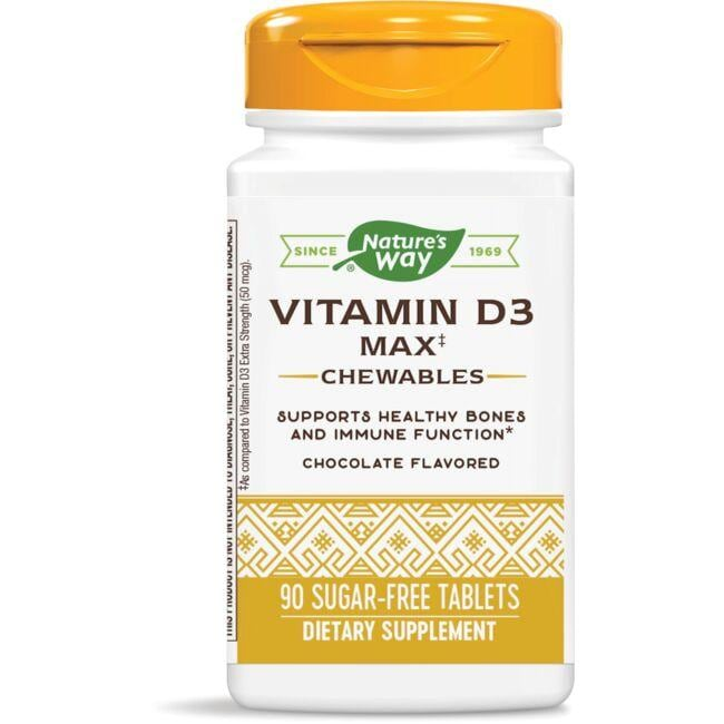 Nature's Way Vitamin D3 Max Chewables - Chocolate