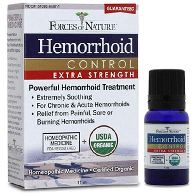 Forces of Nature Organic Hemorrhoid Control - Extra Strength