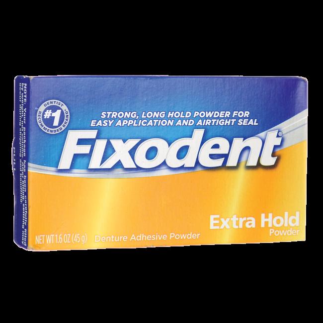 Fixodent Denture Adhesive Extra Hold Powder