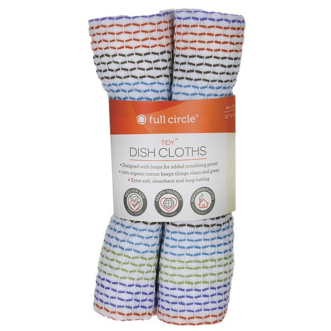 Full Circle HomeTidy Dish Cloths 100% Organic Cotton