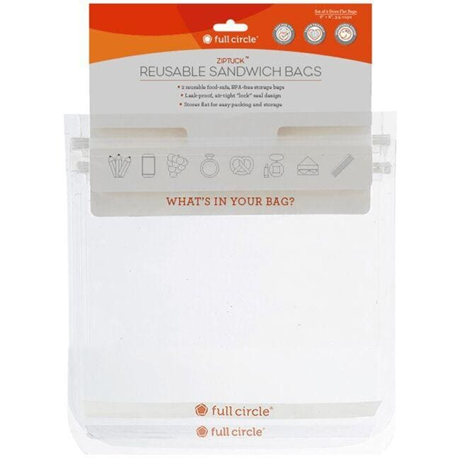 Full Circle Home ZipTuck Reusable Sandwich Bags - Clear