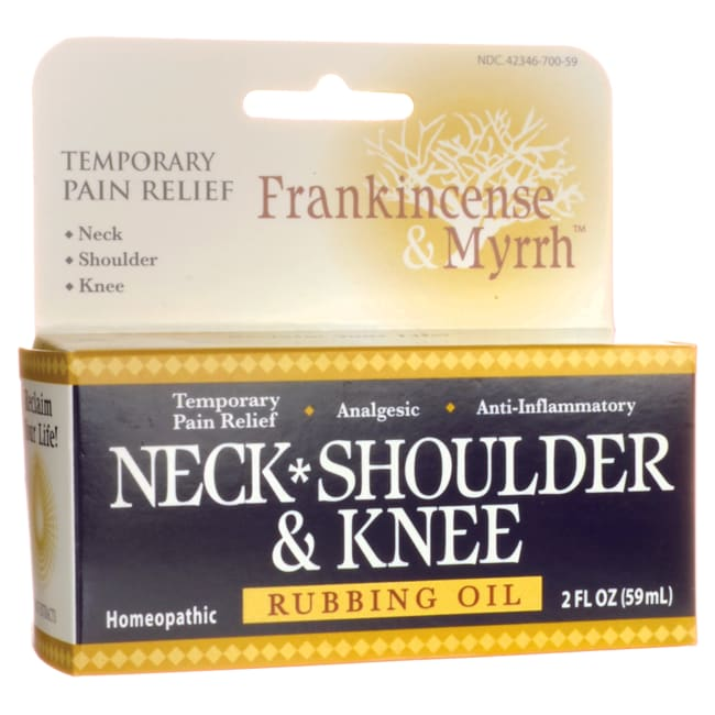 Frankincense & MyrrhNeck, Shoulder & Knee Rubbing Oil