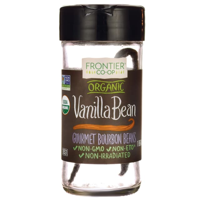 Frontier Natural Products Co-Op Organic Vanilla Bean Whole