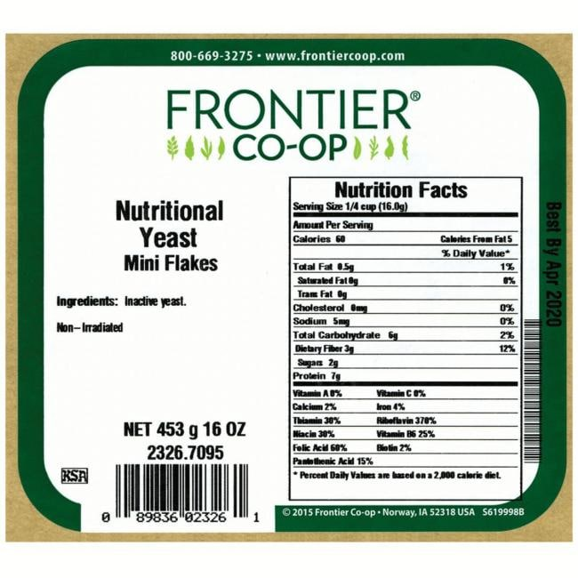 Frontier Co-Op Nutritional Yeast Mini Flakes