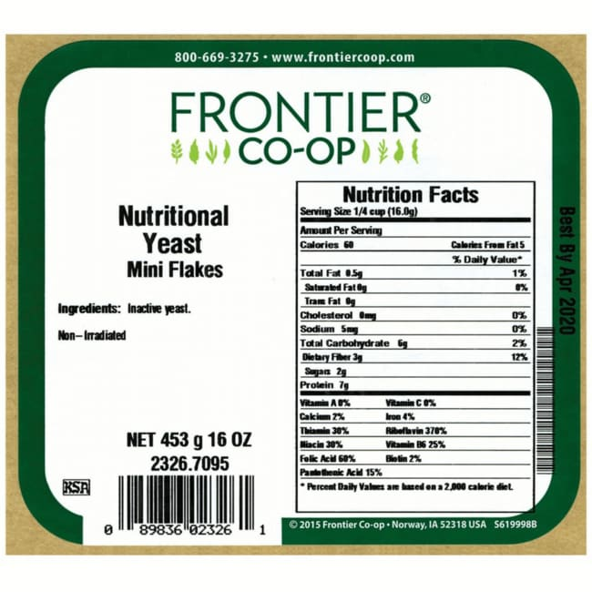 Frontier Natural Products Co-OpNutritional Yeast Mini Flakes