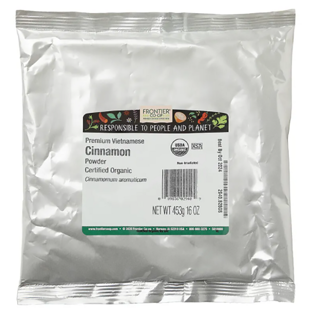 Frontier Natural Products Co-Op Organic Ground Vietnamese Premium Cinnamon